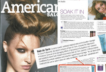 Bain de Terre in American Salon Magazine